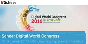 Scheer Digital World Congress 2016