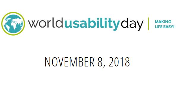 World Usability Day 2018 am 8.11. #WUD2018 - Weltweite Events, z.B. in Stuttgart und München