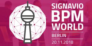 Signavio BPM World 2018 in Berlin