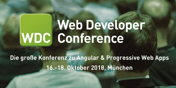Web Developer Conference 2018 (WDC 2018) vom 16.-18.10. in München (Sonderkonditionen)