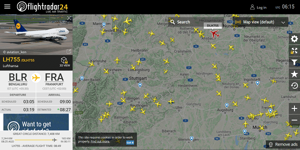 Flightradar24: Cooler Flight Tracker (Web / App) - Wissen, was am Himmel fliegt