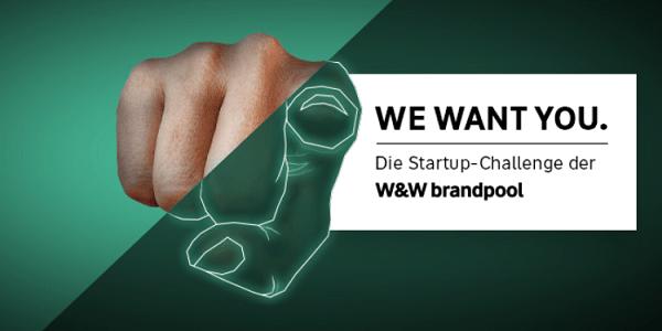 Startup Challenge der W&W brandpool - bis zu 500.000 Euro Startkapital für innovative Ideen