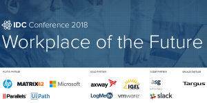IDC Workplace of the Future 2018 in München