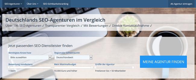 SEO-Vergleich.de - Screenshot