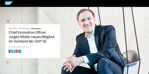 Dr. Jürgen Müller: Neuer SAP Vorstand ab 2019 (Bildquelle: SAP News)