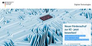 """BMWi-Innovationswettbewerb """"Künstliche Intelligenz als Treiber für volkswirtschaftlich relevante Ökosysteme"""""""