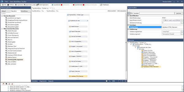 Test Workflow Studio (TWS) - Automatisiertes Testen von Web-Anwendungen