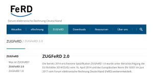 ZUGFeRD 2.0 - Neue Version des Standards für elektronische Rechnungen