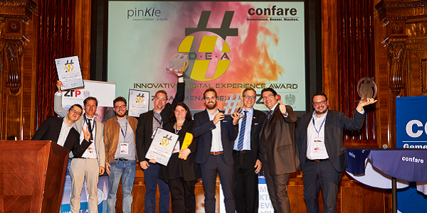 Confare IDEAward 2019 (Austria): Stadt Wien, ZAMG und STRABAG sind die Digital Champions
