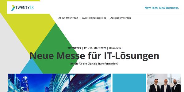 #TWENTY2X: Deutsche Messe AG plant neue Digitalmesse in Hannover im März 2020