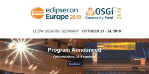 EclipseCon Europe 2019 in Ludwigsburg