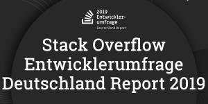Stack Overflow Entwicklerumfrage 2019 Deutschland Report