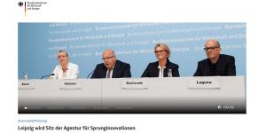 SprinD: Agentur für Sprunginnovationen geht nach Leipzig (Screenshot BMWi)