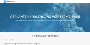 TeamViewer geht an die Börse