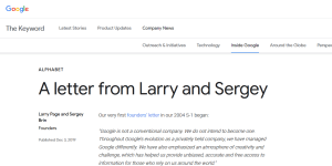 Google/Alphabet: A letter from Larry and Sergey