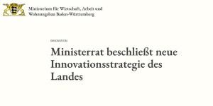 Innovationsstrategie des Landes Baden-Württemberg
