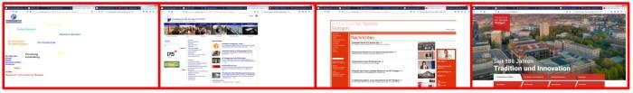 Evolution der HFT Webseite