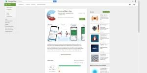 Die Corona Warn App im Google Play Store