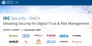 IDC Security DACH - Digital Summit am 1.9.2020