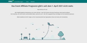 XING Event Affiliate Programm zum 1. April 2021 eingestellt