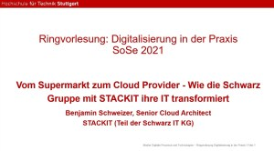 Gastvortrag STACKIT an der HFT Stuttgart