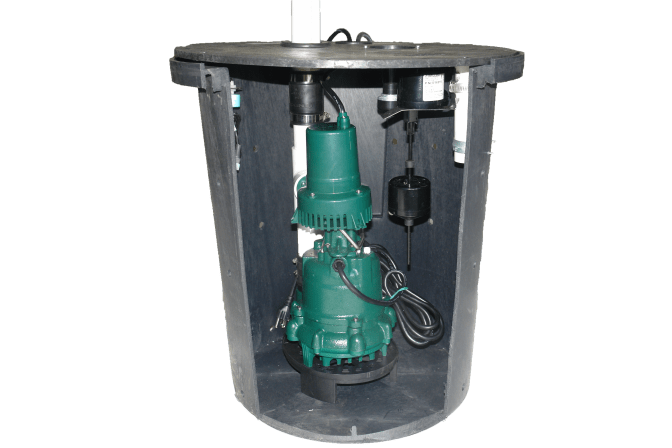 Maple Grove installation of a submersible sump pump system