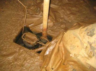 An ugly, clogged sump pump system in Grand Forks, Minnesota, North Dakota and Eastern Montana