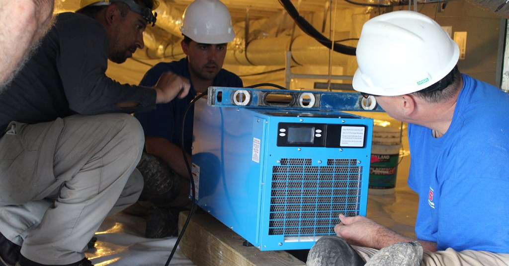 installing a dehumidifier