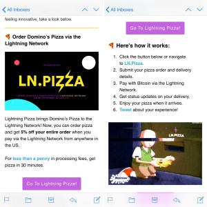 Order Domino's Pizza over the Bitcoin Lightning Network from anywhere in the U.S.