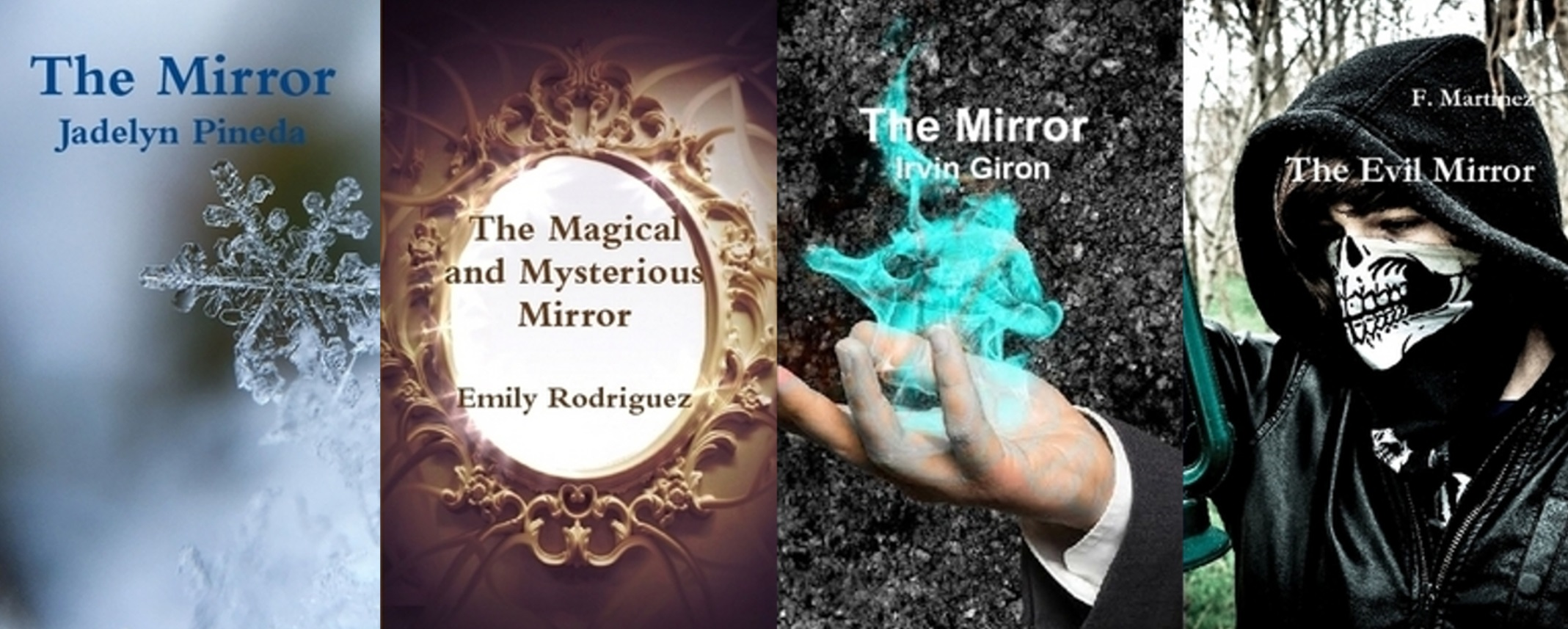 Students learned how to write a novel and a wrote novels using the magic mirror novel writing prompts