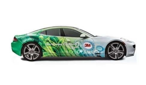 Cars wrapped in 3M Cast Film