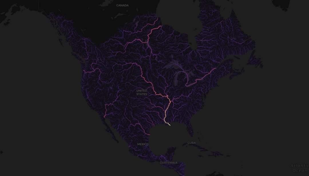 Stamen Design #WorldWaterDay North America watershed map