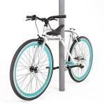 Le cadre du vélo Verka est segmenté et articulé. Il se transforme en antivol en utilisant le tube de selle.
