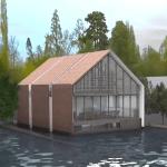 Cette maison amphibie conçue par Baca Architects flotte grâce à des caissons situés à sa base et permet une élévation de 3 mètres.