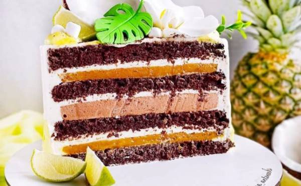 Шоколадный торт с фруктами рецепт с фото пошагово