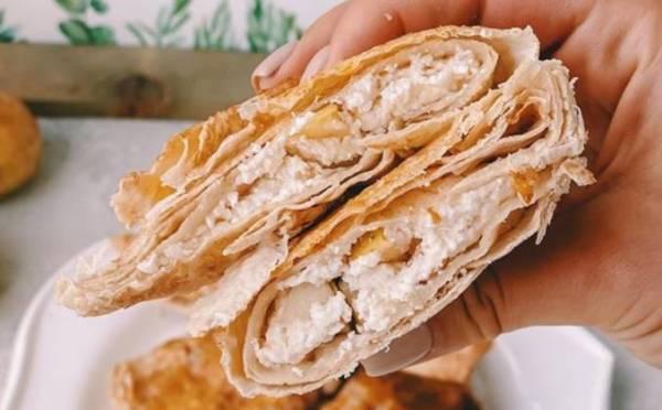 ПП Пирожки из лаваша с начинкой из яблок и творога рецепт ...