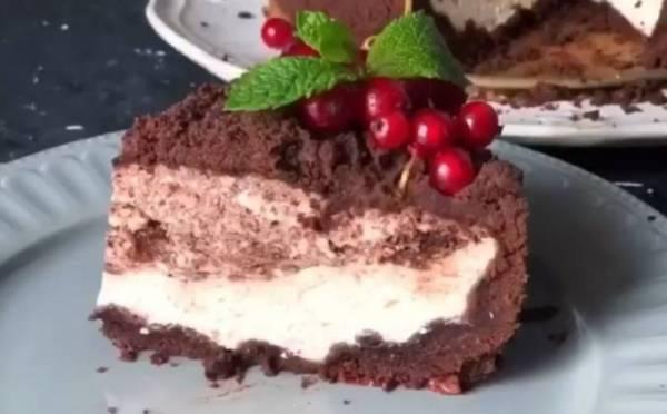 Шоколадная королевская ватрушка с творогом рецепт с фото ...