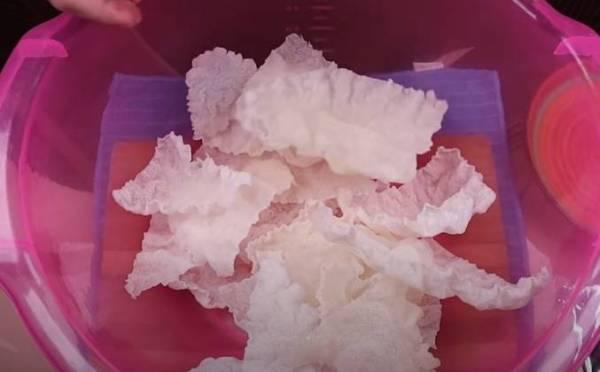 Рисовые чипсы из рисовой бумаги рецепт с фото пошагово
