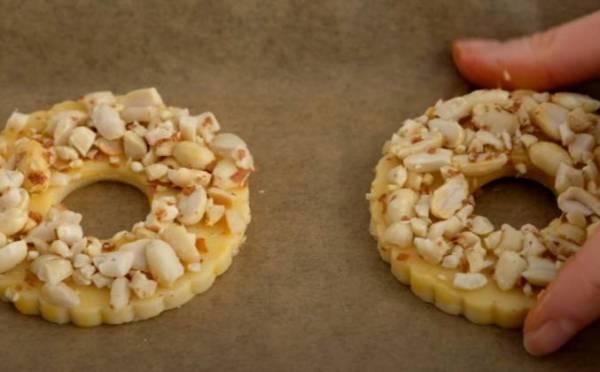 Ореховые песочные кольца с арахисом рецепт с фото пошагово