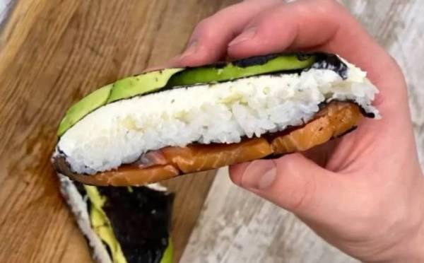 Суши сэндвич с лососем рецепт с фото пошагово