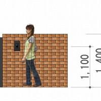 門柱立面図