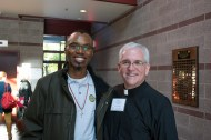 Fr. Agbonkhianmeghe E. Orobator, SJ, Provincial of the East African Province with Fr. David S. Ciancimino, SJ, Provincial of the New York Province.