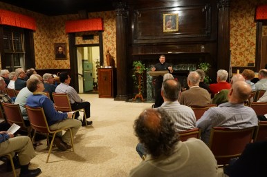 Fr. Pellegrini, SJ, talking to the men during one of the sessions.