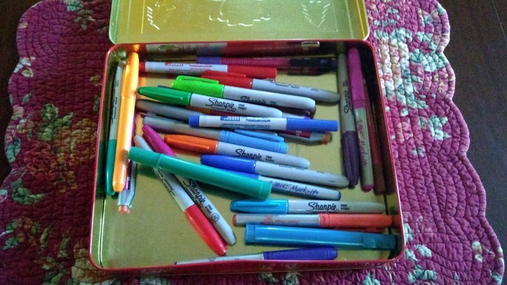Box of permanent markers