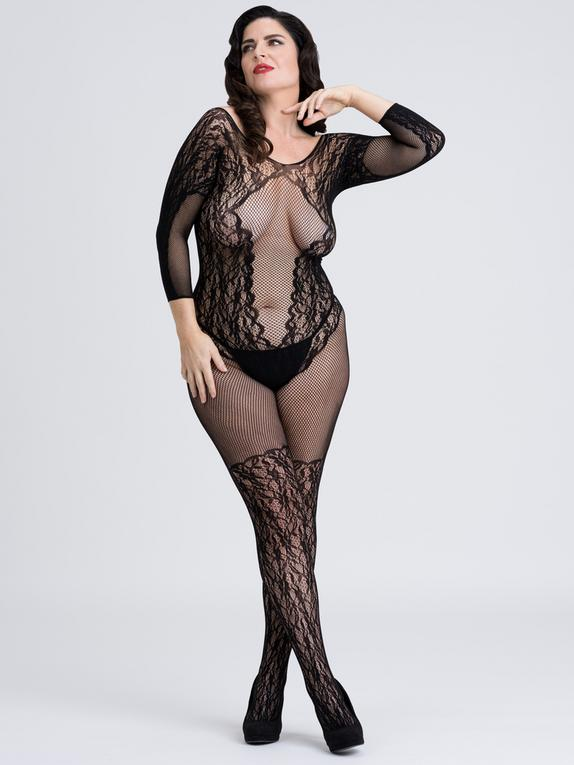 Fifty Shades of Grey Captivate Plus Size Lace Spanking Bodystocking