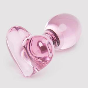 Lovehoney Small Heart Glass Butt Plug 3 Inch