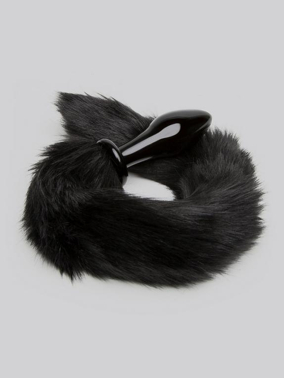 DOMINIX Deluxe Glass Faux Fur Animal Tail Butt Plug