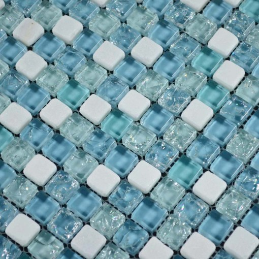 Inspirational Bathroom Floor Tiles Ideas      InOutInterior     Bathroom Glass Floor Tiles Mosaic
