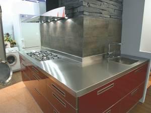Mobiliario en acero inoxidable para encimeras de cocina