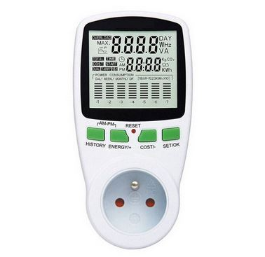 Цифровой измеритель напряжения вольт/ваттметр (зеленый)
